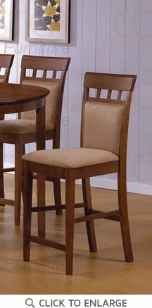 Hyde 24 Inch UPL Back Walnut Counter Bar Stool (Set of 2) by Coaster - 101219