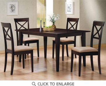 Hyde 5 Piece Dining Table and Chairs by Coaster 100771-100774