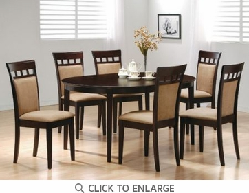 Hyde 5 Piece Oval Dining Table and Chairs by Coaster 100770-100773