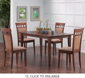 Hyde 5 Piece Walnut Finish UPL Back Dining Set by Coaster - 101771