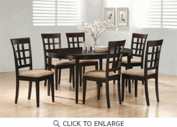 Hyde 7 Piece Oval Dining Table and Chairs by Coaster 100770-100772