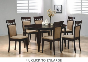 Hyde 7 Piece Oval Dining Table and Chairs by Coaster 100770-100773