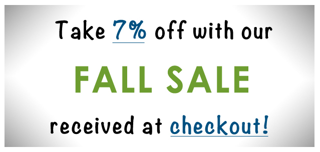 Fall Sale 7% Discount on all purchases