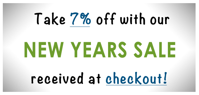 New Years Sale 7% Discount on all purchases