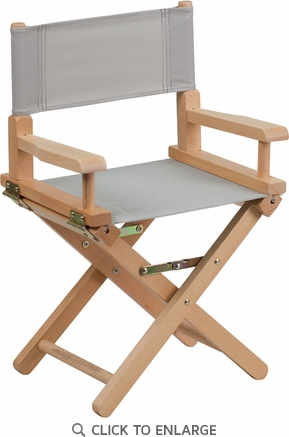 Kid Size Directors Chair in Gray [TYD03-GY-GG]