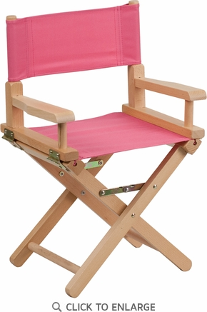 Kid Size Directors Chair in Pink [TYD03-PK-GG]