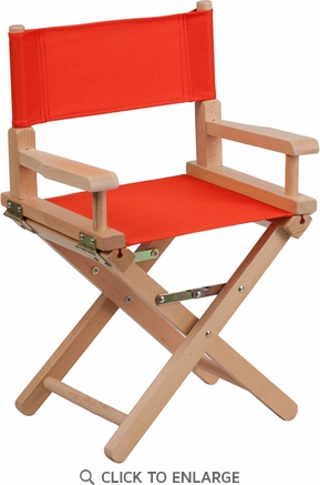 Kid Size Directors Chair in Red [TYD03-RD-GG]