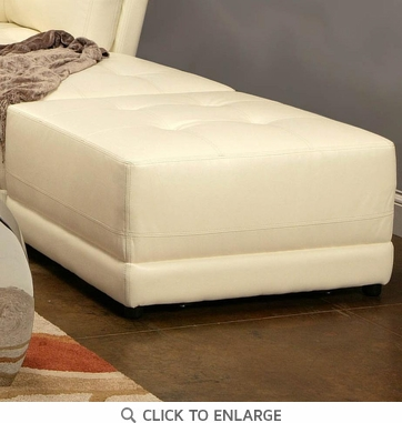 Laurentides White Leather Ottoman by Coaster - 500896