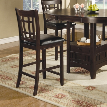 Lavon 24 Inch Cappuccino Counter Bar Stool (Set of 2) by Coaster - 102889