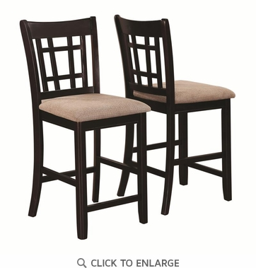 Lavon Lattice Back Counter Height Dining Chairs by Coaster 105279 - Set of 2