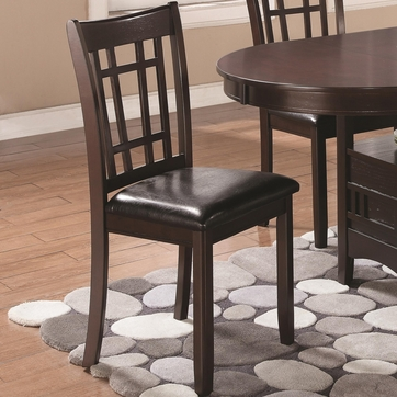 Linwood Espresso Dining Chairs with Vinyl Seat by Coaster 102672 - Set of 2