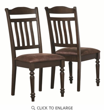 Mulligan Espresso Country Style Dining Chairs by Coaster 104782 - Set of 2