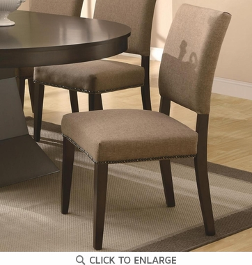 Myrtle Coffee Dining Chairs with Nailhead Trim 103572 - Set of 2