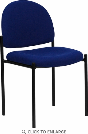 Navy Fabric Comfortable Stackable Steel Side Chair [BT-515-1-NVY-GG]