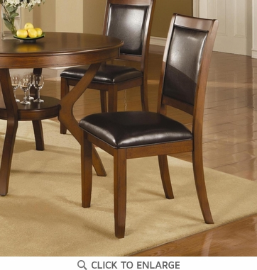 Nelms Upholstered Walnut Finish Dining Chairs by Coaster 102172 - Set of 2