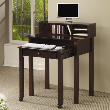 Nesting Office Computer Desk in Cappuccino by Coaster - 800434