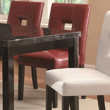 Newbridge Red Vinyl Dining Chairs by Coaster 103612RED - Set of 2