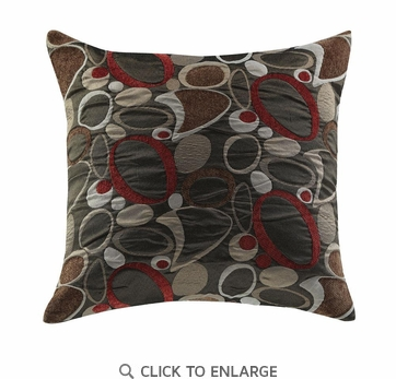 Oblong Print Pattern Accent Pillow by Coaster 905008 - Set of Two