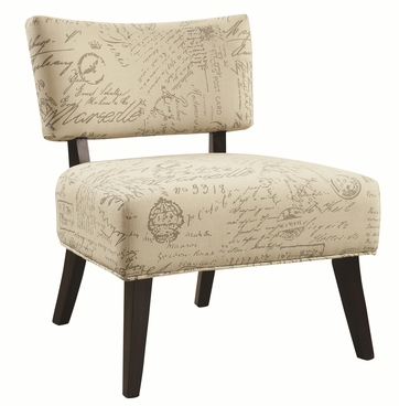 Over-Sized Accent Chair with French Script Pattern by Coaster 902114