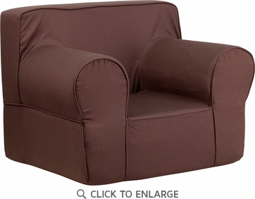 Oversized Solid Brown Kids Chair [DG-LGE-CH-KID-SOLID-BRN-GG]