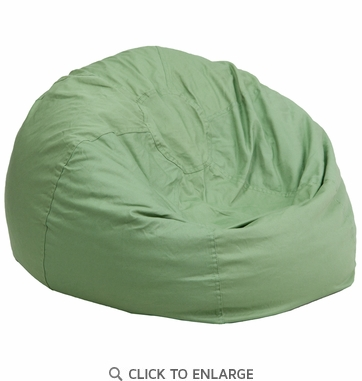 Oversized Solid Green Bean Bag Chair DG BEAN LARGE SOLID GRN GG