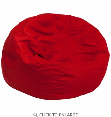 Oversized Solid Red Bean Bag Chair [DG-BEAN-LARGE-SOLID-RED-GG]
