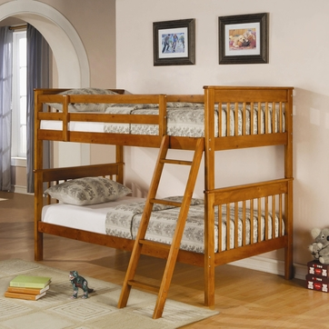 Parker Twin over Twin Bunk Bed in Cappuccino by Coaster 460233