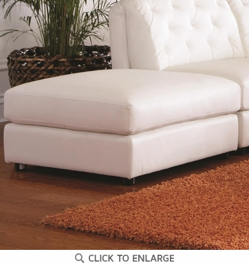 Quinn Contemporary White Square Cocktail Storage Ottoman by Coaster 551023