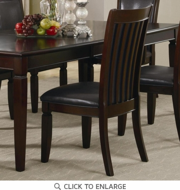 Ramona Formal Walnut Finish Dining Chairs by Coaster 101632 - Set of 2