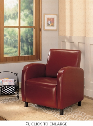 Red Upholstered Accent Arm Chair by Coaster - 900335