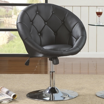 Round Black Adjustable Swivel Chair by Coaster 102580