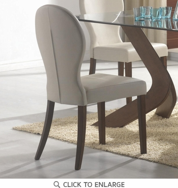 San Vicente Ivory Upholstered Dining Chairs by Coaster 120362 - Set of 2