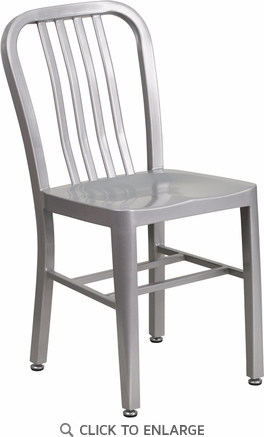 Silver Metal Indoor-Outdoor Chair [CH-61200-18-SIL-GG]