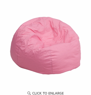 Small Solid Light Pink Kids Bean Bag Chair [DG-BEAN-SMALL-SOLID-PK-GG]