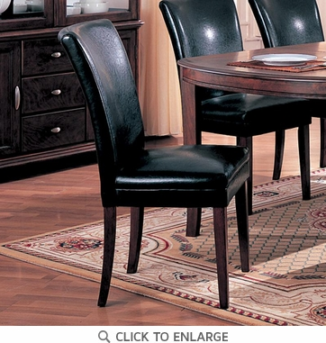 Soho Black Parson Dining Side Chair by Coaster 4077BLK - Set of 2