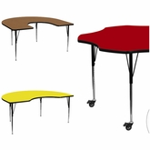 Square, Flower, Moon and Horseshoe Activity Tables