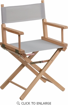 Standard Height Directors Chair in Gray [TYD02-GY-GG]
