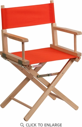 Standard Height Directors Chair in Red [TYD02-RD-GG]