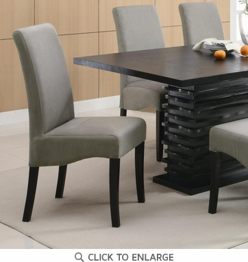 Stanton Gray Dining Chairs with Black Legs by Coaster 102062 - Set of 2