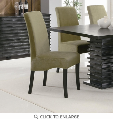 Stanton Green Dining Chairs with Black Legs by Coaster 102063 - Set of 2