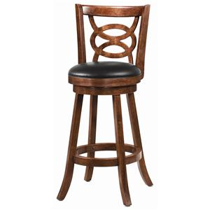 Swivel Bar Stool (Set of 2) in Cappuccino by Coaster - 101930