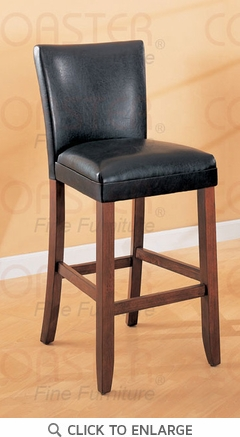 Telegraph 29 Inch Black Faux Leather Bar Stool (Set of 2) by Coaster