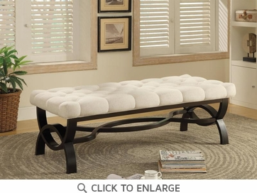 Transitional Bench Ottoman with Espresso Finish Legs by Coaster 500022