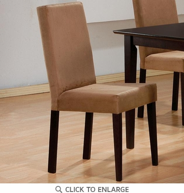 Upholstered Mocha Parson Dining Chairs by Coaster 100492 - Set of 2