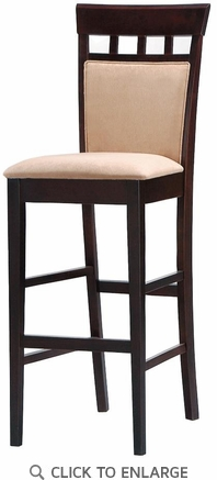 UPL Back Cappuccino Finish Bar Stool (Set of 2) by Coaster
