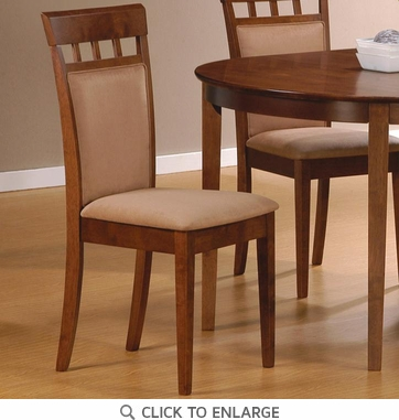 Walnut Finish Cushion Back Dining Chairs by Coaster 101773 - Set of 2