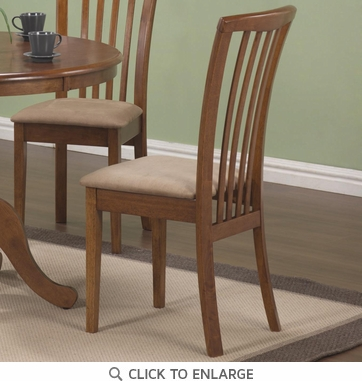 Warm Maple Slat Back Dining Chairs by Coaster 101092 - Set of 2