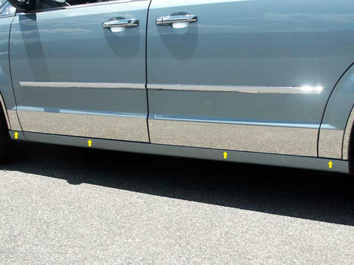 "2008-2011 Dodge Grand Caravan 8pc Rocker Panel Trim 5 1/2"" Wide-L"