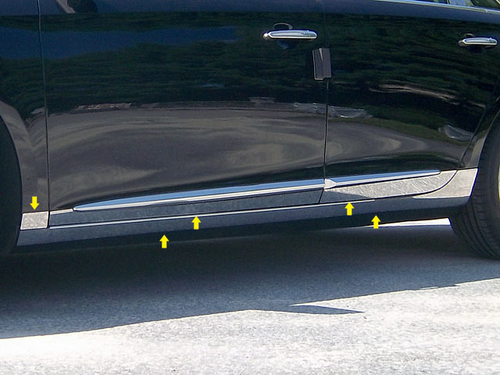 2013 Cadillac XTS 10pc Rocker Panel Trim - F