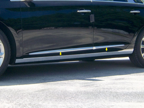 2013 Cadillac XTS 4pc Rocker Panel Trim - O